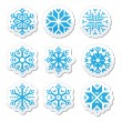 Snowflakes icon set on black and white background — Stock Vector #51979163
