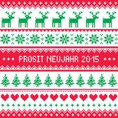 Prosit neujahr 2015 - gott nytt år i tyska mönster — Stockvektor