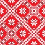 Seamless Ukrainian Slavic folk art red embroidery pattern — Stock Vector #54104145
