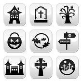 Halloween vector buttons set — Stock Vector