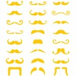 Blond moustache or mustache vector icons set — Stock Vector #56619021