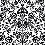 Постер, плакат: Seamless floral Polish folk pattern Wycinanki Wzory Lowickie