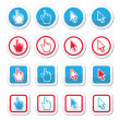 Hand and arrow cursor vector icons set — Stock Vector #61870495