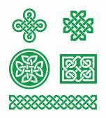 Celtic knots, braid patterns - St Patrick's Day — Stock Vector