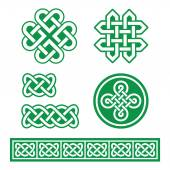 Celtic Irish patterns and braids - St Patrick's Day — Stock Vector
