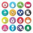 World Water Day icons - ecology, green concept — Stock Vector #65365015