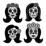 ������, ������: Mexican La Catrina Day of the Dead girl skull