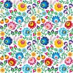 Постер, плакат: Seamless Polish folk art floral pattern wzory lowickie wycinanki
