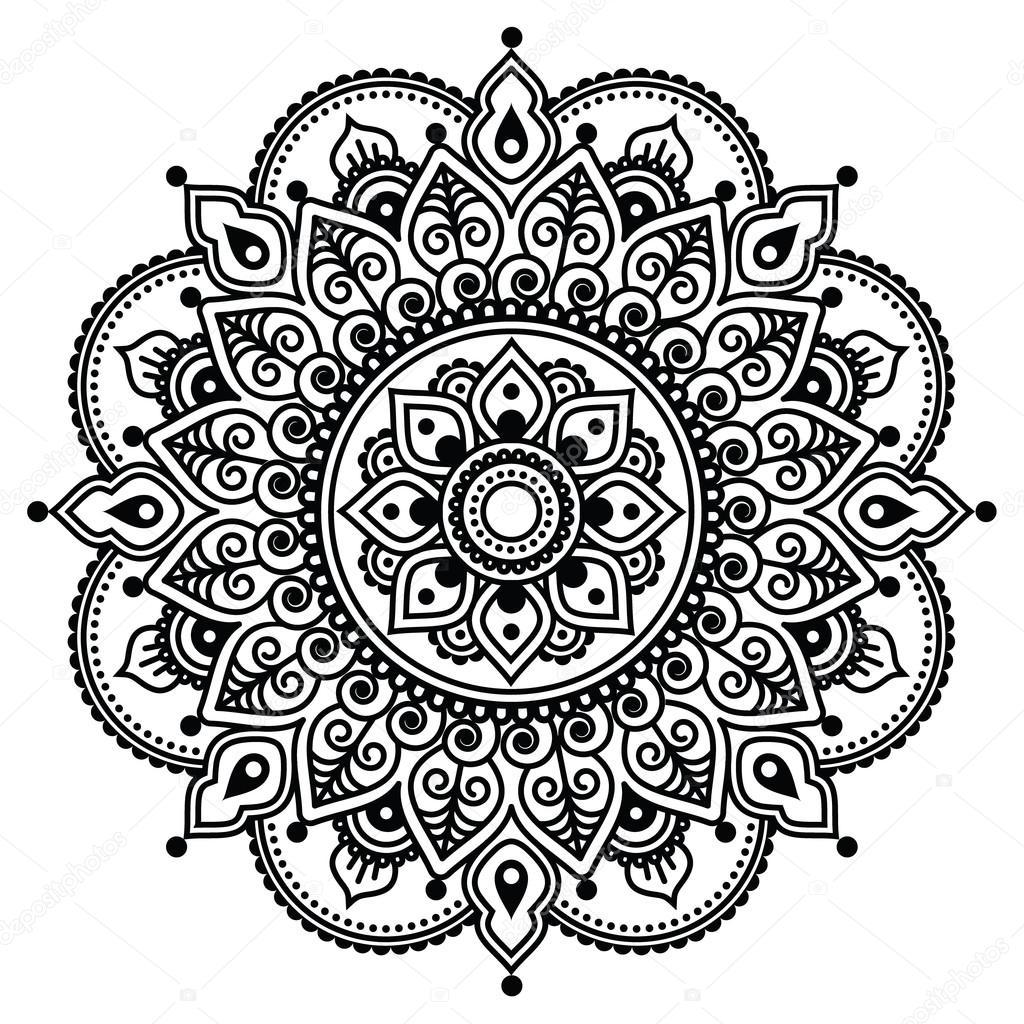mehndi indische henna t towierung muster oder hintergrund stockvektor redkoala 72513185. Black Bedroom Furniture Sets. Home Design Ideas