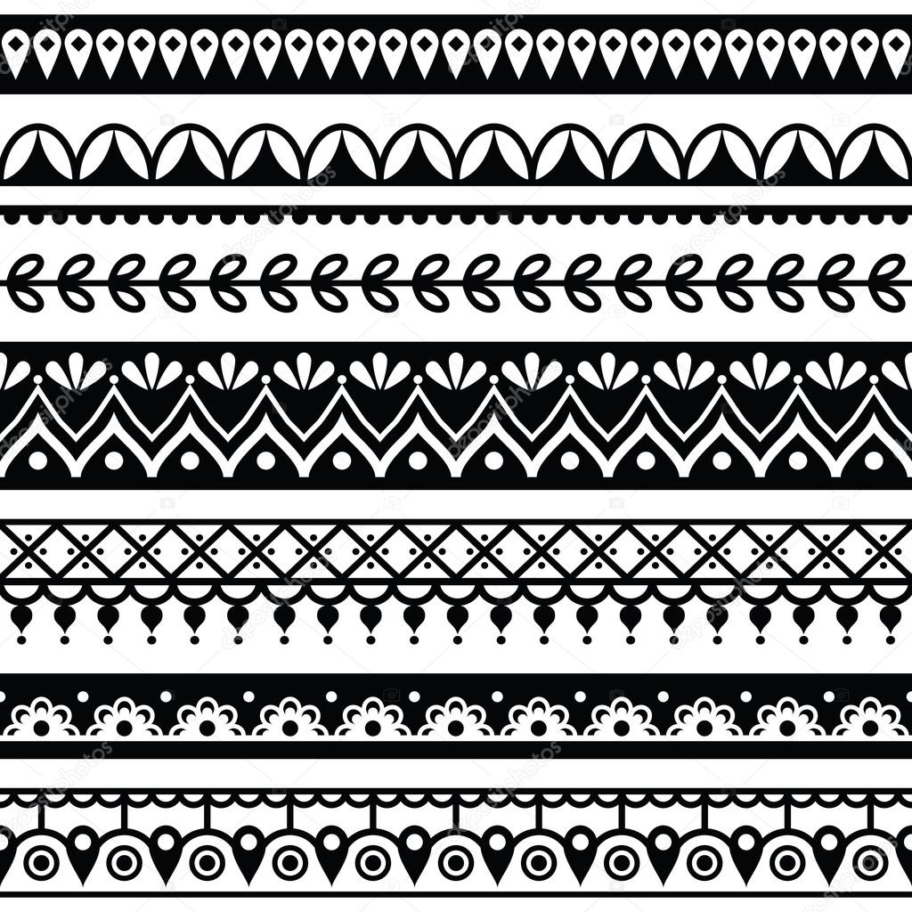 mehndi indische henna tattoo nahtlose muster design. Black Bedroom Furniture Sets. Home Design Ideas