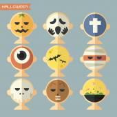 Halloween mask, avatar — Stock Vector