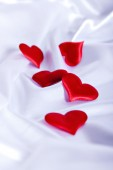 Red heart is the symbol of Valentine's Day — Stock Photo