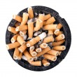 Ashtray full of cigarette butts — Stock Photo #53602291