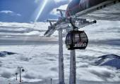Ski resort Jasna south,Slovakia.Low Tatras.New cable car Funitel. Photo taken on: January 27th, 2013 — Stock Photo