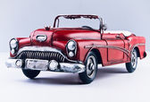 Red old hand made car — Stock Photo