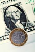 Euro versus dollar — Stock Photo