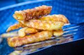 油炸的马铃薯 — 图库照片