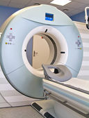 Woman as a patient being investigated for magnetic resonance scanner. — Foto Stock