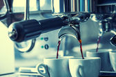 Coffee machine making espresso — Stock Photo