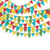 Colorful Garlands — Stock Vector