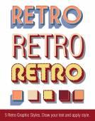 Retro Text Graphic Styles — Stock Vector