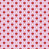 Simple seamless geometric pattern with hearts. — Stock Vector
