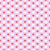 Simple seamless geometric pattern with hearts. — Stockvektor