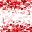 Elegant red background with hearts — Stock Vector #63320123
