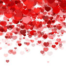 Elegant red background with hearts — Stock Vector