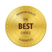 Gold Best Choice Badge — Wektor stockowy