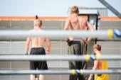 Three boys shirtless — Stock Photo