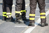 Firefighter boots — Stock Photo
