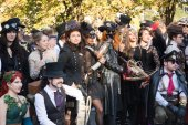 Steampunk people — Stock Photo