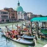 Постер, плакат: Gondolas service in Venice