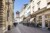 Vicenza,Palladio street. — Stock Photo