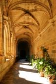 Cloister of San Benito convent — Stock Photo