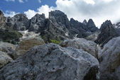 Rugged peaks of the Pale di San Martino — Stock Photo