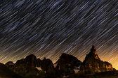 Star trails over Pale di St.Martino — Stockfoto