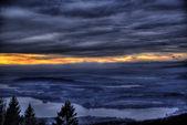 Sunset over horizon, Varese — Stock Photo