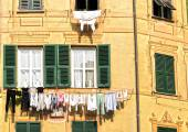 The laundry hanging in the sun — Stock Photo