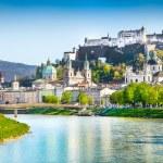 Historic city of Salzburg in spring, Austria — Stock Photo #58675081