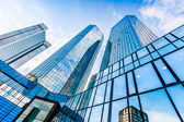 Modern skyscrapers in business district — Stock Photo