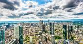 Frankfurt am Main skyline panorama, Hessen, Germany — Stock Photo