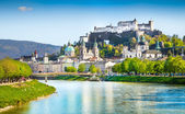 Historic city of Salzburg in spring, Austria — Stock Photo