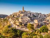 Ancient town of Matera at sunrise, Basilicata, Italy — Stock Photo