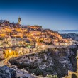 Ancient town of Matera at dusk, Basilicata, southern Italy — Stock Photo #68471993