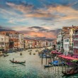 Canal Grande from famous Rialto Bridge at sunset, Venice, Italy — Stock Photo #68476143