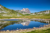 Gran Sasso mountain summit at Campo Imperatore plateau, Abruzzo, Italy — Stock Photo