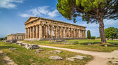 Temple of Hera at famous Paestum Archaeological Site, Province of Salerno, Campania, Italy — Fotografia Stock