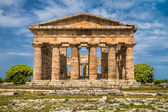 Temple of Hera at famous Paestum Archaeological Site, Province of Salerno, Campania, Italy — ストック写真